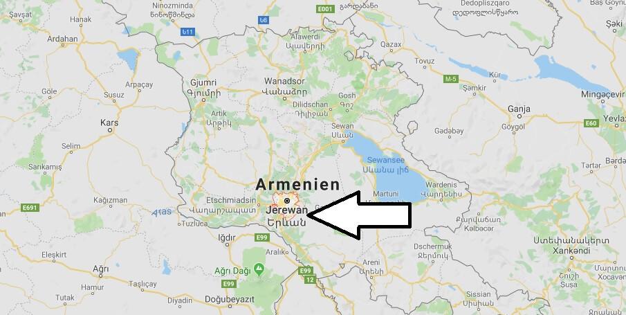 Wo liegt Jerewan? Wo ist Jerewan? in welchem land liegt Jerewan