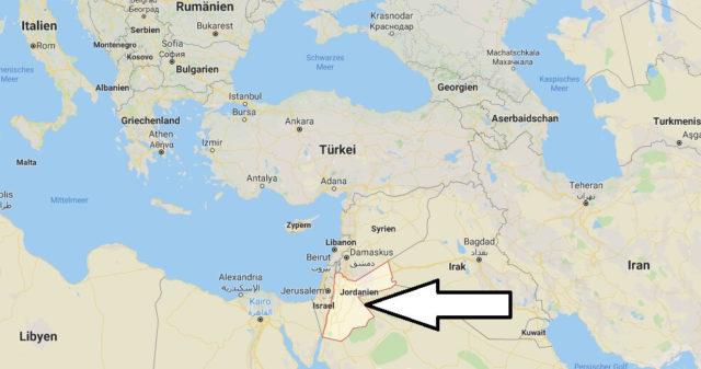 Wo liegt Jordanien? Wo ist Jordanien? in welchem Land? Welcher Kontinent ist Jordanien?