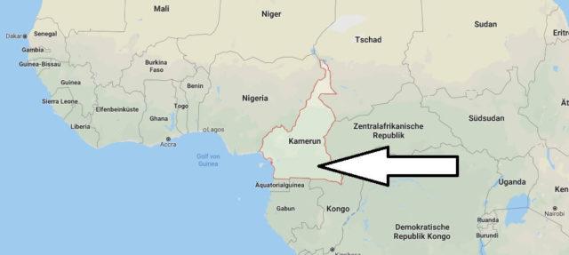 Wo liegt Kamerun? Wo ist Kamerun? in welchem Land? Welcher Kontinent ist Kamerun?