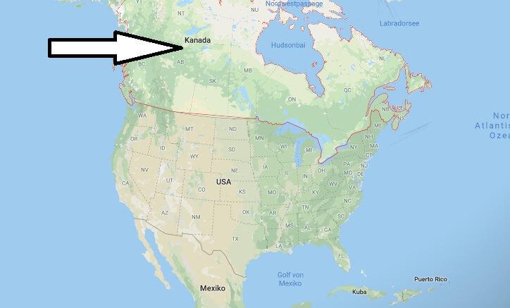 Wo liegt Kanada? Wo ist Kanada? in welchem Land? Welcher Kontinent ist Kanada?