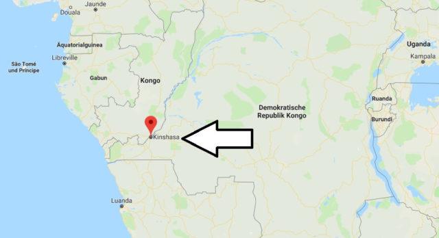 Wo liegt Kinshasa? Wo ist Kinshasa? in welchem land liegt Kinshasa