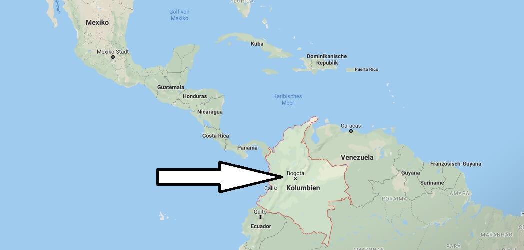 Wo liegt Kolumbien? Wo ist Kolumbien? in welchem Land? Welcher Kontinent ist Kolumbien?