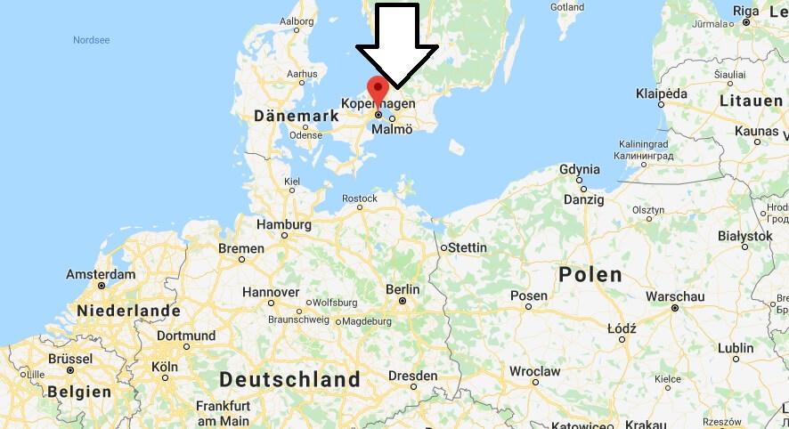 Wo liegt Kopenhagen? Wo ist Kopenhagen? in welchem land liegt Kopenhagen