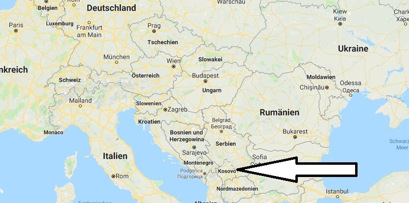Wo liegt Kosovo? Wo ist Kosovo? in welchem Land? Welcher Kontinent ist Kosovo?