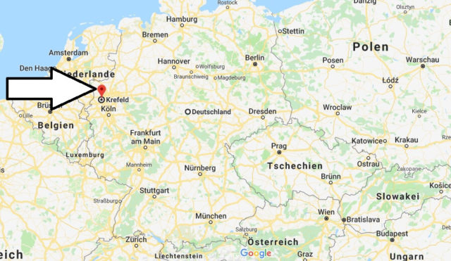 Wo liegt Krefeld? Wo ist Krefeld