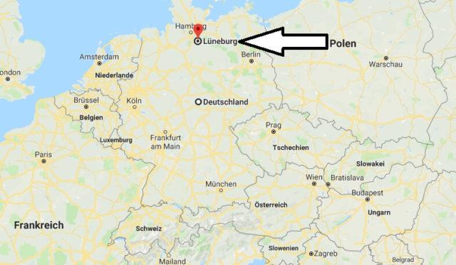 Wo liegt Lüneburg? Wo ist Lüneburg? in welchem Land