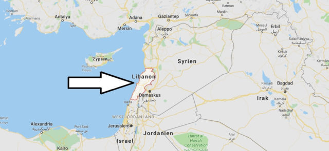 Wo liegt Libanon? Wo ist Libanon? in welchem Land? Welcher Kontinent ist Libanon?