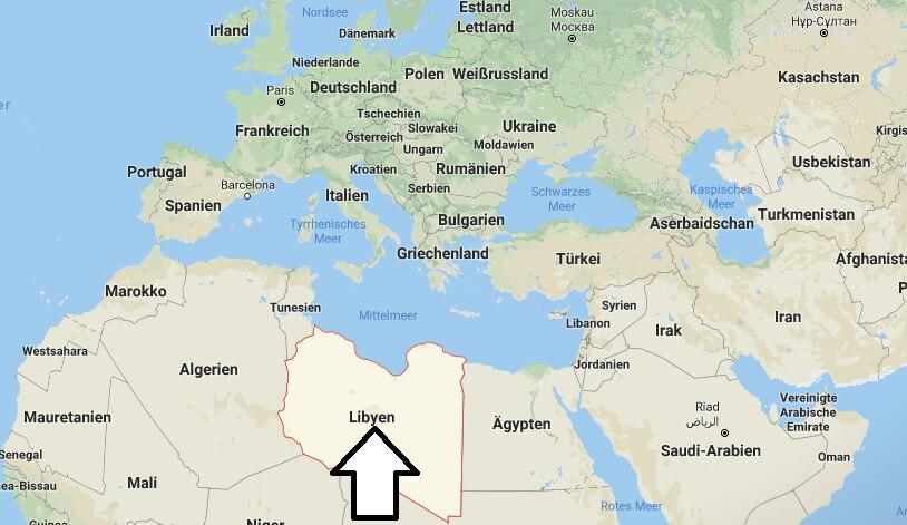 Wo liegt Libyen? Wo ist Libyen? in welchem Land? Welcher Kontinent ist Libyen?