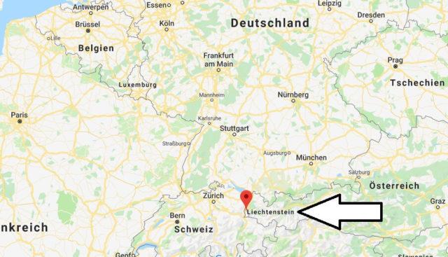 Wo liegt Liechtenstein? Wo ist Liechtenstein? in welchem Land? Welcher Kontinent ist Liechtenstein?