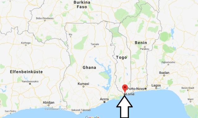 Wo liegt Lomé? Wo ist Lomé? in welchem land liegt Lomé
