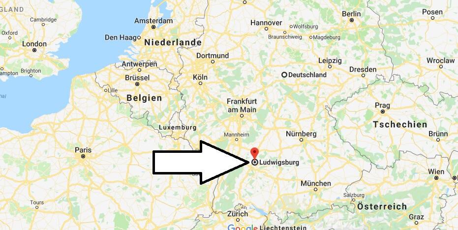 Wo liegt Ludwigsburg? Wo ist Ludwigsburg