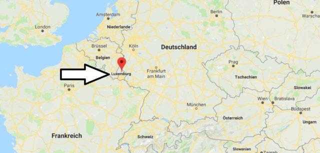 Wo liegt Luxemburg? Wo ist Luxemburg? in welchem Land? Welcher Kontinent ist Luxemburg?