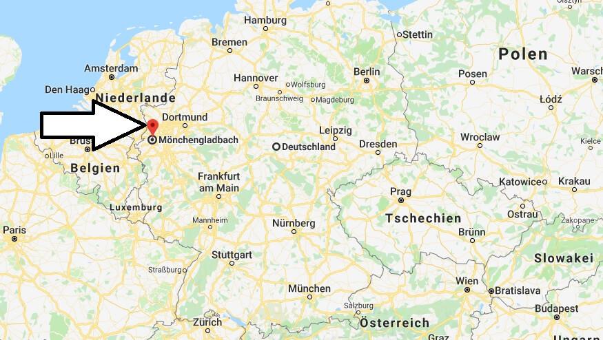Wo liegt Mönchengladbach? Wo ist Mönchengladbach
