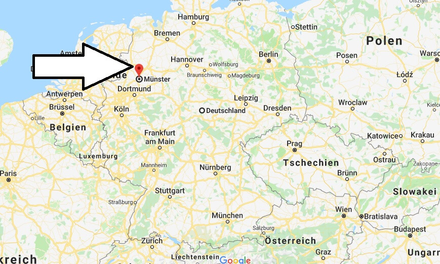 Wo liegt Münster? Wo ist Münster