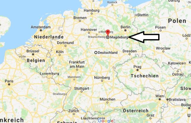 Wo liegt Magdeburg? Wo ist Magdeburg