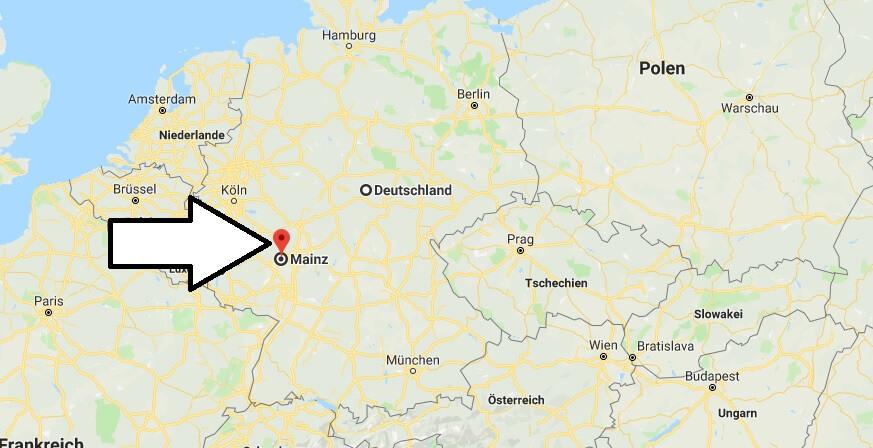 Wo liegt Mainz? Wo ist Mainz