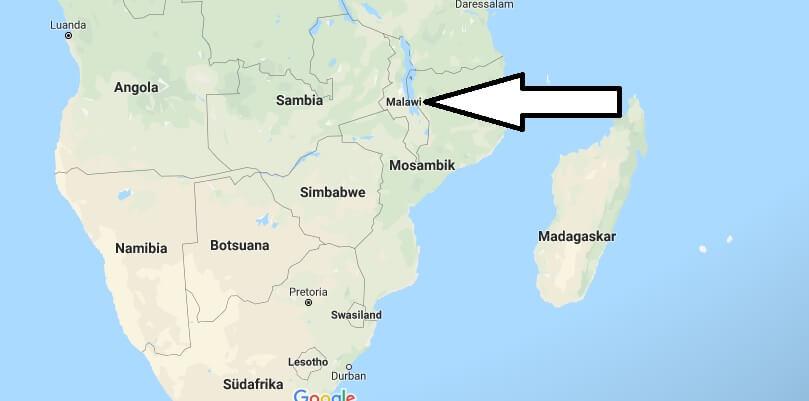 Wo liegt Malawi? Wo ist Malawi? in welchem Land? Welcher Kontinent ist Malawi?