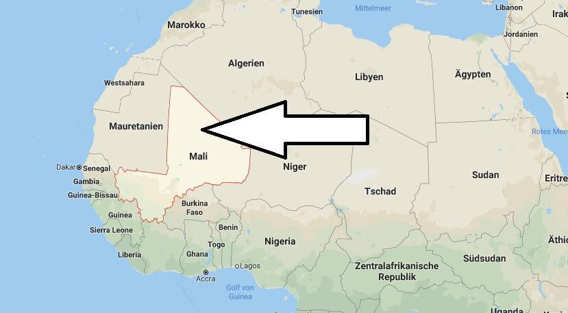 Wo liegt Mali? Wo ist Mali? in welchem Land? Welcher Kontinent ist Mali?