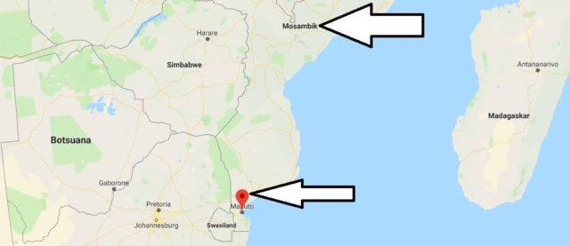 Wo liegt Maputo? Wo ist Maputo? in welchem land liegt Maputo