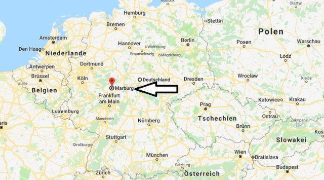 Wo liegt Marburg? Wo ist Marburg? in welchem Land
