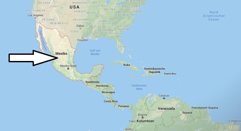 Wo liegt Mexiko? Wo ist Mexiko? in welchem Land? Welcher Kontinent ist Mexiko?