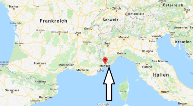 Wo liegt Monaco? Wo ist Monaco? in welchem Land? Welcher Kontinent ist Monaco?
