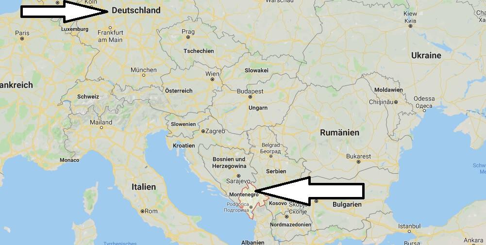 Wo liegt Montenegro? Wo ist Montenegro? in welchem Land? Welcher Kontinent ist Montenegro?