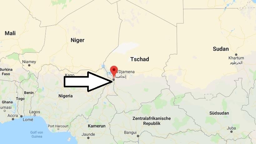 Wo liegt N'Djamena Wo ist N'Djamena in welchem land liegt N'Djamena