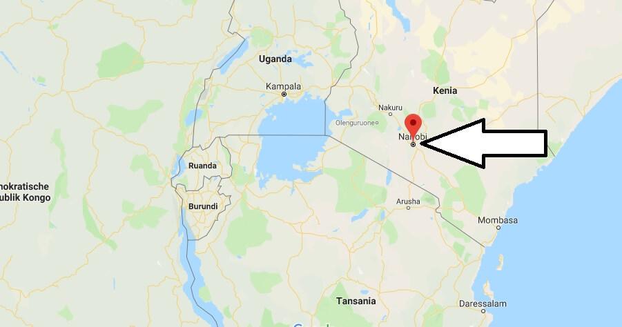 Wo liegt Nairobi? Wo ist Nairobi? in welchem land liegt Nairobi