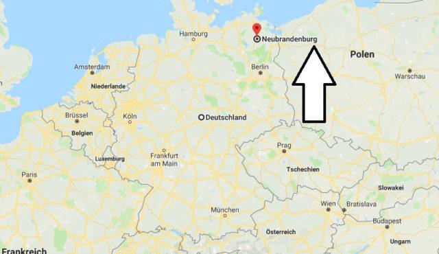 Wo liegt Neubrandenburg? Wo ist Neubrandenburg? in welchem Land
