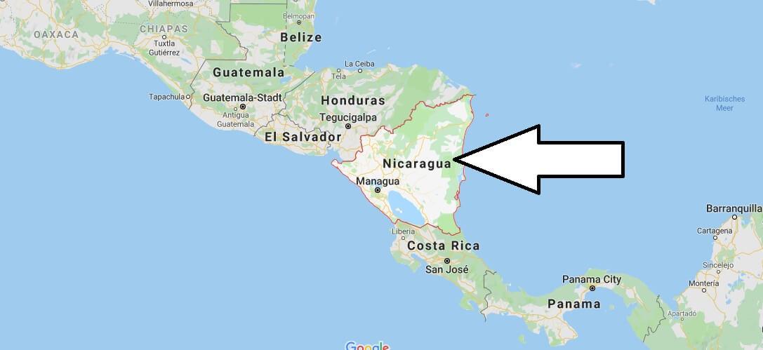 Wo liegt Nicaragua? Wo ist Nicaragua? in welchem Land? Welcher Kontinent ist Nicaragua?
