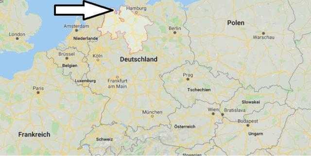 Wo liegt Niedersachsen? Wo ist Niedersachsen