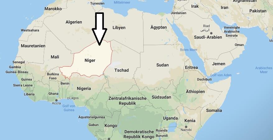 Wo liegt Niger? Wo ist Niger? in welchem Land? Welcher Kontinent ist Niger?