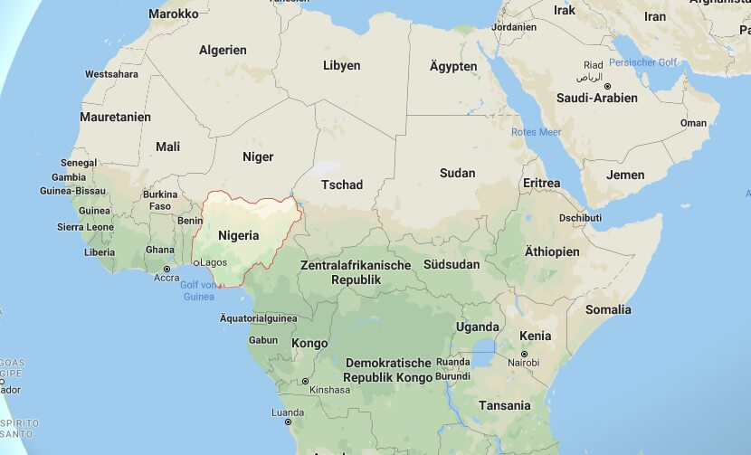Wo liegt Nigeria? Wo ist Nigeria? in welchem Land? Welcher Kontinent ist Nigeria?