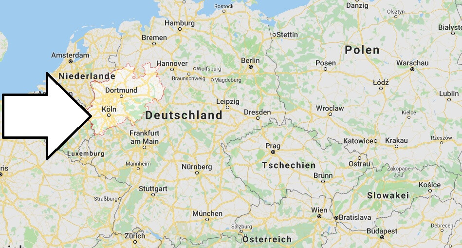 Wo liegt Nordrhein-Westfalen? Wo ist Nordrhein-Westfalen