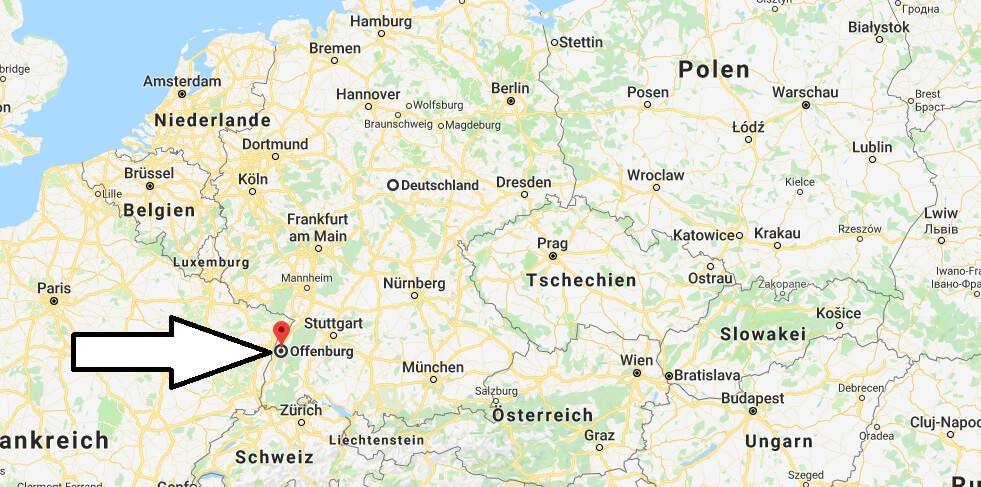 Wo liegt Offenburg? Wo ist Offenburg? in welchem Land