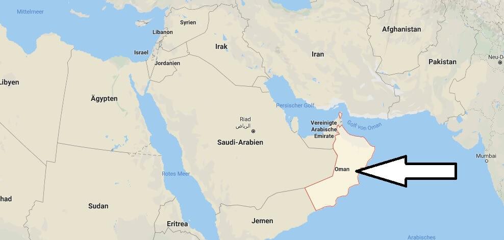Wo liegt Oman? Wo ist Oman? in welchem Land? Welcher Kontinent ist Oman?