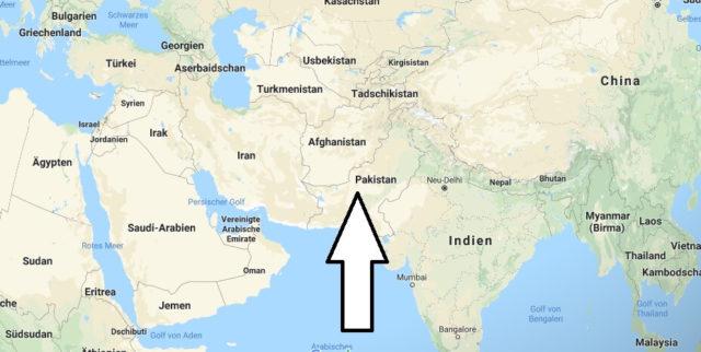 Wo liegt Pakistan? Wo ist Pakistan? in welchem Land? Welcher Kontinent ist Pakistan?