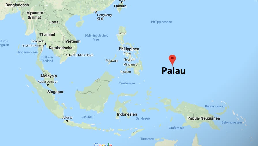 Wo liegt Palau? Wo ist Palau? in welchem Land? Welcher Kontinent ist Palau?