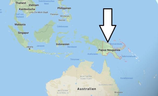 Wo liegt Papua Neuguinea? Wo ist Papua Neuguinea? in welchem Land? Welcher Kontinent ist Papua Neuguinea?