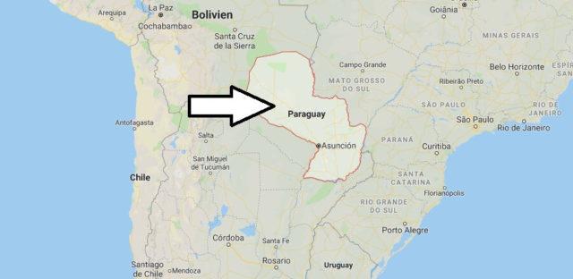Wo liegt Paraguay? Wo ist Paraguay? in welchem Land? Welcher Kontinent ist Paraguay?