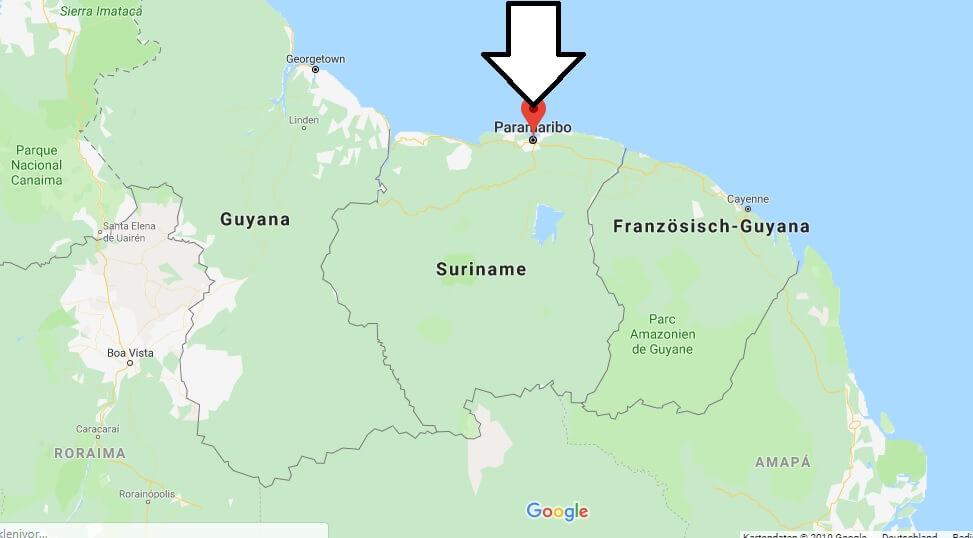 Wo liegt Paramaribo? Wo ist Paramaribo? in welchem land liegt Paramaribo