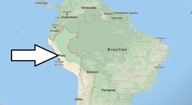 Wo liegt Peru? Wo ist Peru? in welchem Land? Welcher Kontinent ist Peru?