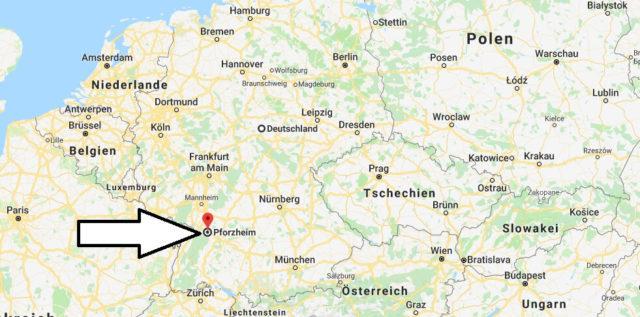 Wo liegt Pforzheim? Wo ist Pforzheim