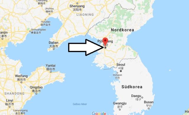 Wo liegt Pjöngjang? Wo ist Pjöngjang? in welchem land liegt Pjöngjang