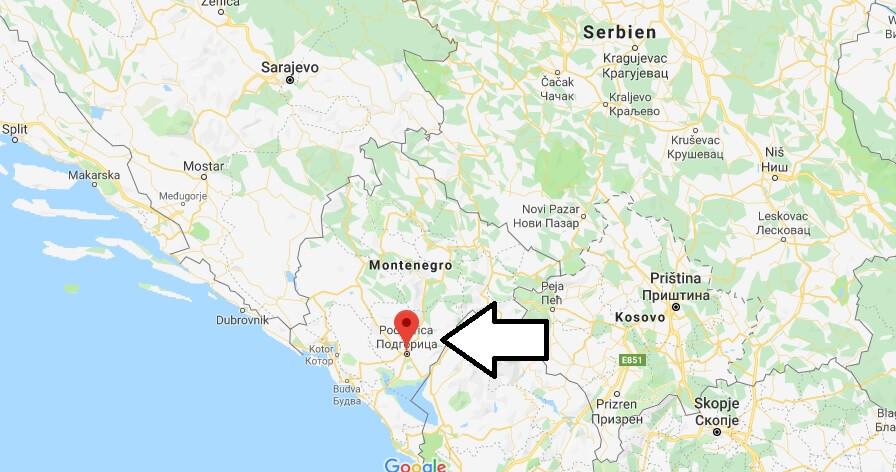 Wo liegt Podgorica? Wo ist Podgorica? in welchem land liegt Podgorica