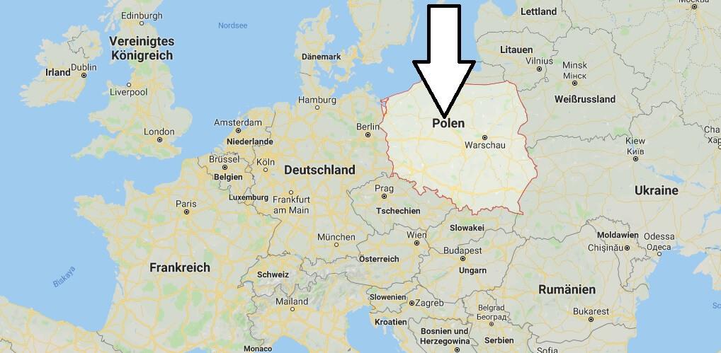 Wo liegt Polen? Wo ist Polen? in welchem Land? Welcher Kontinent ist Polen?