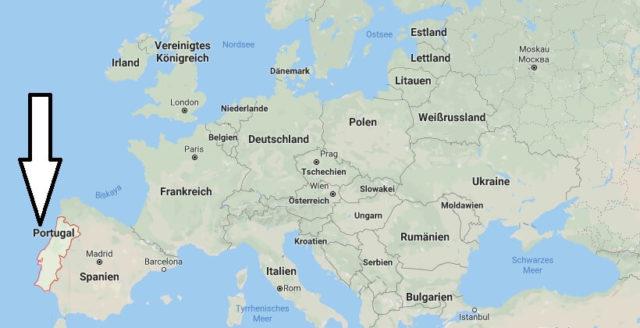 Wo liegt Portugal? Wo ist Portugal? in welchem Land? Welcher Kontinent ist Portugal?