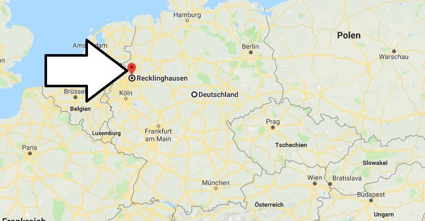 Wo liegt Recklinghausen? Wo ist Recklinghausen