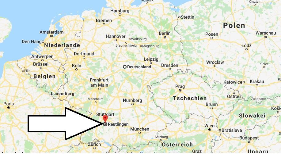 Wo liegt Reutlingen? Wo ist Reutlingen